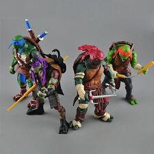 """4pcs/Lot Teenage Mutant Ninja Turtles Movie 5"""" PVC Action Figure Toys TMNT toy J"""