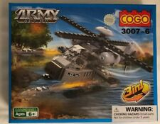 Magibrix Building Bricks Cogo Army Action Helicopter Boat Plane 3-in-1