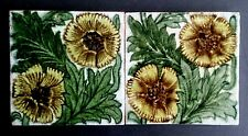 William de MORGAN Pair of K.L. Rose Tiles Arts and Crafts 1880s William Morris