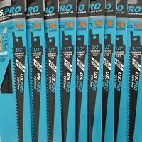 50 X WOOD RECIP SAW BLADES RAWLPLUG US PRO S644D 150mm fast cut 6 tpi FAST CUT