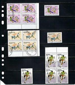 FUTBOL OF- NICARAGUA,-  ''CUP SPAIN/82''    15 stamps