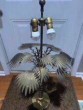 Vintage Chapman Brass Tall Palm Tree Lamp