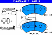 Bremsbelagsatz Scheibenbremse - ATE 13.0460-4811.2