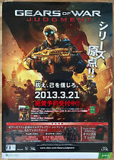 Gears of War Judgment RARE XBOX 360 51.5 cm x 73 Japanese Promo Poster