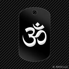 Om Symbol Keychain GI dog tag engraved many colors  yoga aum #1