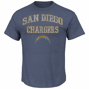 San Diego Chargers MENS Shirt T-Shirt Team Shine VI by Majestic Athletic