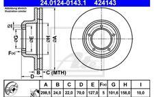 ATE Juego de 2 discos freno Antes 298mm ventilado para TOYOTA 24.0124-0143.1