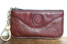 VINTAGE MARK CROSS ITALY DARK BROWN GENUINE LEATHER KEY ID CARD COIN WALLET