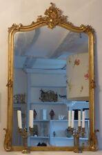 Miroir Style Louis XV, Rocaille, Bois Et Stuc Doré à La Feuille, époque XIX ème