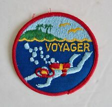 Vintage Embroidered Patch Voyager Scuba Diver Sew Iron On Ocean Island Dive Gear