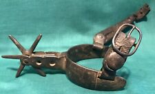 """Antique Spur (single) with 6 - 1 & 1/2"""" rowels, heavy, no marks"""