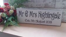Personalised Established sign shabby & chic vintage wooden sign weddings