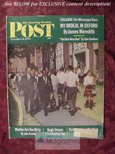 Saturday Evening POST November 10 1962 HUGH DOWNS PETER MAAS MISSISSIPPI