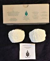 2 Christmas Votive Candle Holder Bisque Porcelain By Partylite