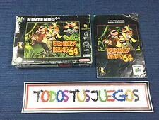 Manual Y Caja Donkey Kong 64 Nintendo 64 N64 BUENA CONDICION
