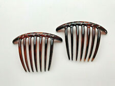 Pair of The French Atelier French Twist Hair Combs Rhinestone Embellished France