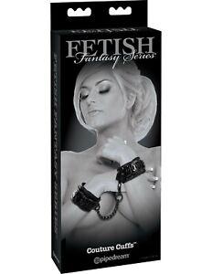 Fetish Fantasy Limited Edition Couture Hand Wrist Cuffs Black Vinyl BDSM Adults