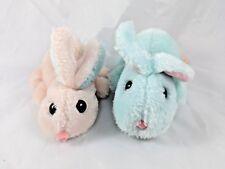 Animal Fair Pink Green Rabbit Plush Bunny Lot of 2 Stuffed Animal