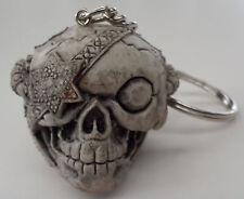 Rubber Keychain Keyring Skull Eyepatch Skeleton Skull Harley Goth