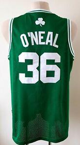 Boston Celtics basketball jersey NBA Adidas shirt size L #36 Oneal