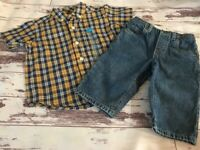 Adorable Little Boy's Outfit Sz 9-12 Months Jeans & New Shirt Spring! TCP Circo
