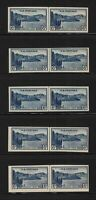 1935 Sc 761 FARLEY 5c National Parks imperf unused vertical line pairs