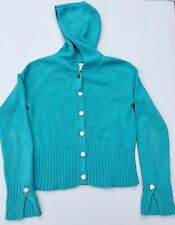 NO BOUNDARIES HOODED CARDIGAN CROPPED SWEATER WITH SNAPS JUNIOR SIZE MEDIUM 7/9