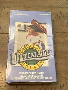 1991 Ultimate Draft Picks Hockey Card Wax Pack Box French Set