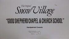 Dept 56 Snow Village Good Shepherd Chapel & Church School - 54240