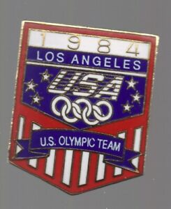 1984 Team USA Olympic Pin Los Angeles Rings