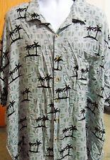 Island Blue Floral Men's Hawaiian Shirt 4 XL