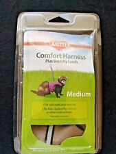 Kaytee Comfort Harness Plus Stretchy Leash Medium Tan NEW