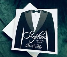 Personalised Thank You For Being My Best Man Tuxedo Card