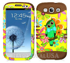 KoolKase Hybrid Silicone Cover Case for Samsung Galaxy S3 - Owls Flower 05