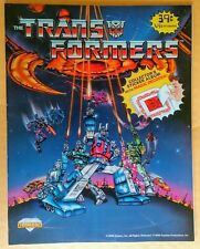 1986 G1 TRANSFORMERS (UNUSED) STICKER ALBUM w/3-D Decoder MOVIE HASBRO VINTAGE