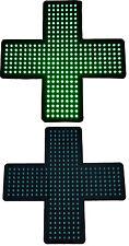 Enseigne lumineuse Panneau à LED Croix vert (pharmacie) 48X48X2,5cm