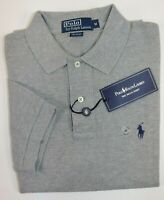 NWT $98 RALPH LAUREN Size Med Men's S/S Heather Grey CLASSIC FIT Mesh Polo Shirt