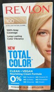 Revlon Total Color Clean & Vegan Hair Color 100% Coverage Extra Light Blonde New