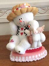 Sarah's Attic Large Snowonders Holidays Valentine Love Snowman Figurine 1E/0446