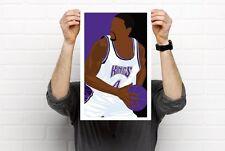 Sacramento Kings Player Cousins Webber Jwill Gay Divac  Prints Bobblehead Art
