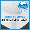 New Waterproof Terry Towel Mattress Protector Fitted Bed Topper Cover All Sizes