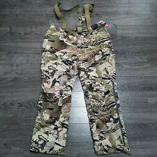 UNDER ARMOUR Storm Grit Barren Camo Hunting Bib Pants Mens XL Extreme season kit