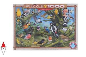 PUZZLE ANIMALI EUROGRAPHICS UCCELLI GARDEN BIRDS BY JOAHN FRANC 1000 PZ