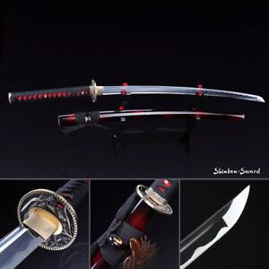 1095 Carbon Steel Katana Handmade Japanese Samurai Sword sharp Blade Full Tang