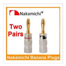 4 x Nakamichi Speaker Banana Plug Premium 24K Gold Plated Pure Copper Amp Jack