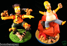 The Simpsons Misadventures of Homer Collectible Sculptures, Set of 2, Imperfect