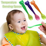 3pcs Soft Safe Baby Temperature Sensing Spoon Set for Toddler Infant Feeding