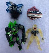 ToyBiz Spider-Man toy lot, Black SEA VENOM, Stealth Clear Venom, giant spider