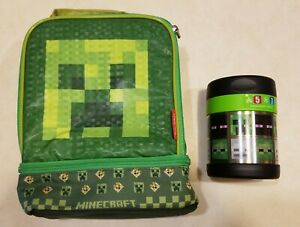 Minecraft Lunch Box Bag Thermos Funtainer Food Jar Back to School Set Combo