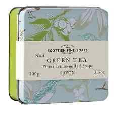 Jabón en una lata de té verde-Scottish Fine Soap Co